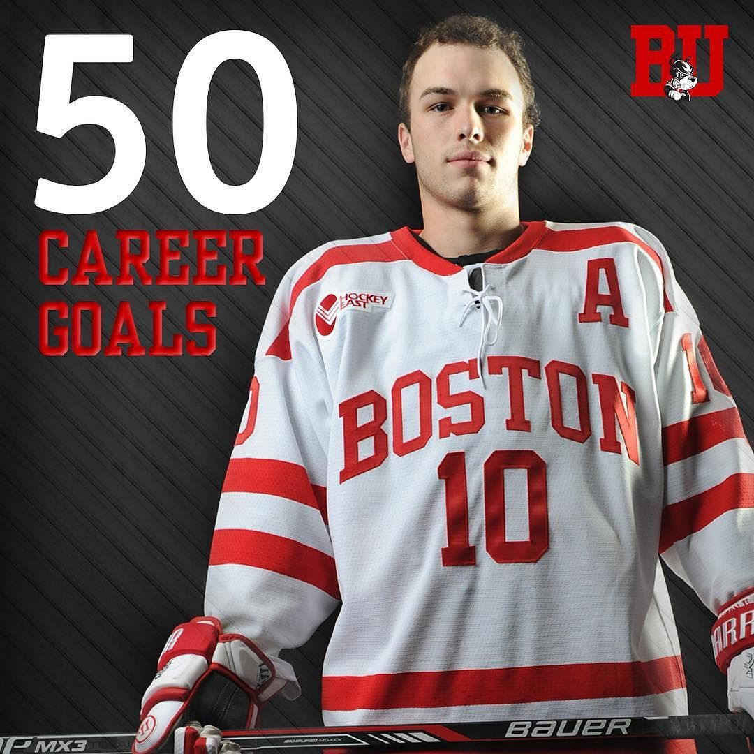 Congrats to Danny O'Regan on becoming the 57th Terrier to record 50 career goals! #ProudtoBU by terrierhockey