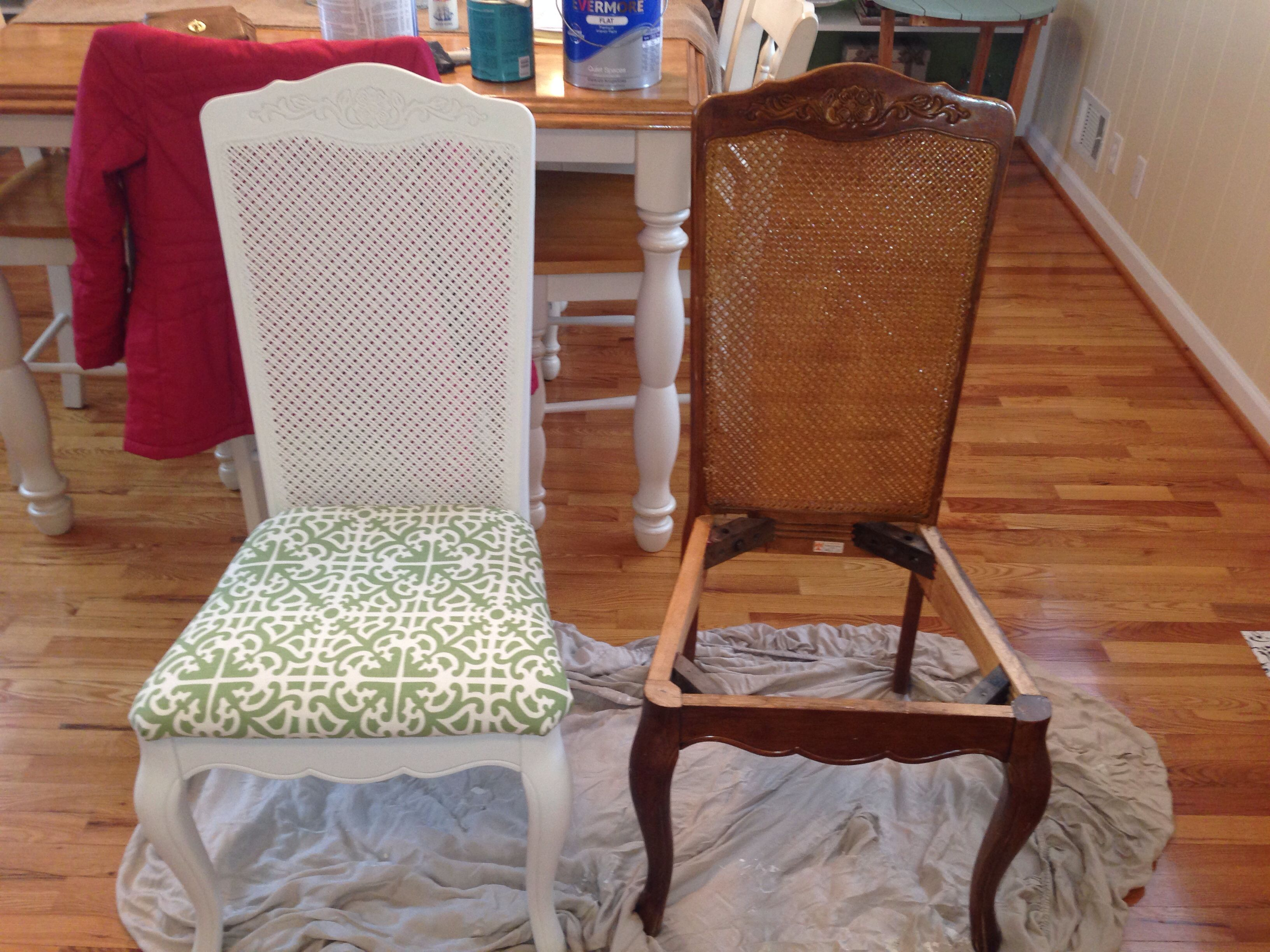 cane back dining chairs: before and after | decorating | pinterest