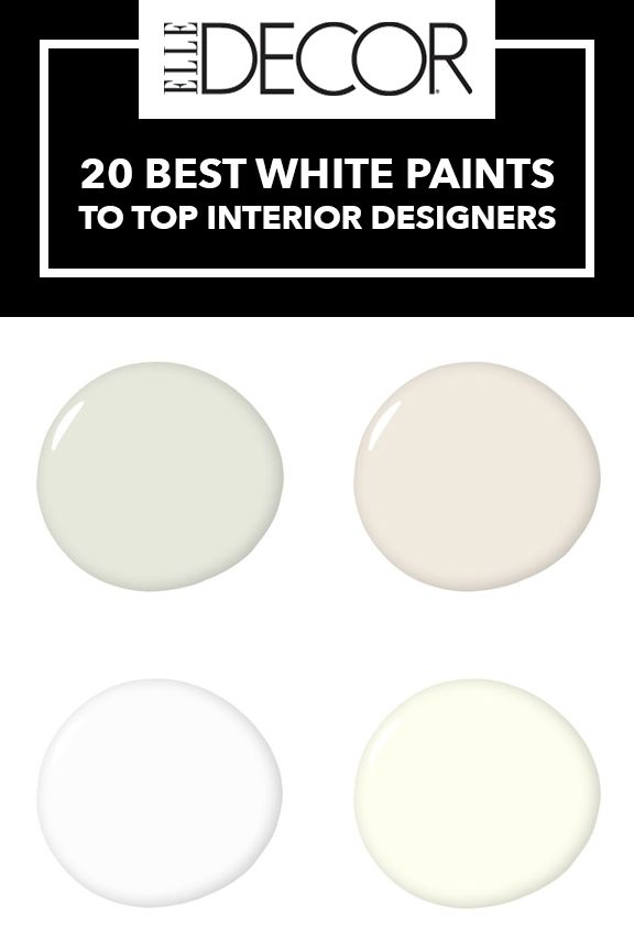 These Are The 23 Shades Of White Paint That Designers Keep Going ...