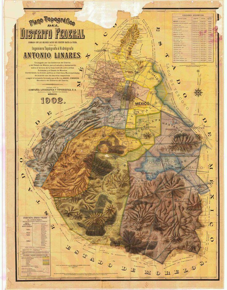 1902 mexican topographic map distrito federal