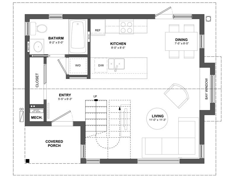 The Cypress Laneway House with its orientation to the lane and – Laneway House Floor Plans