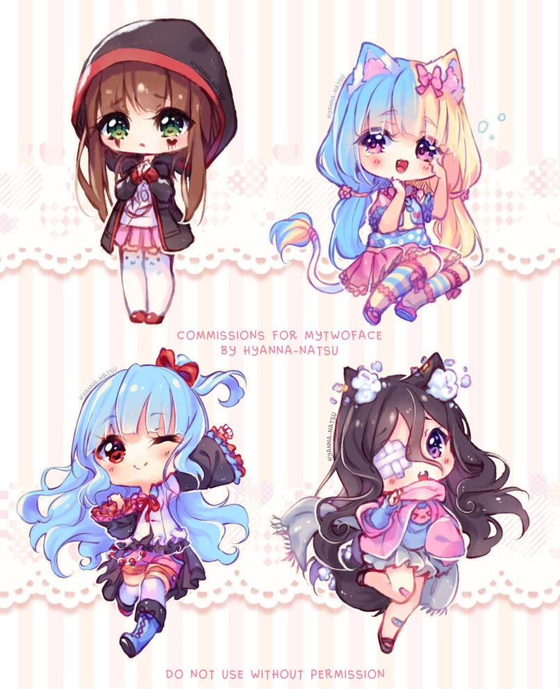 Commission Chibi Feelings By Hyanna Natsu Deviantart Com On Deviantart Cute Anime Chibi Kawaii Chibi Cute Kawaii Drawings