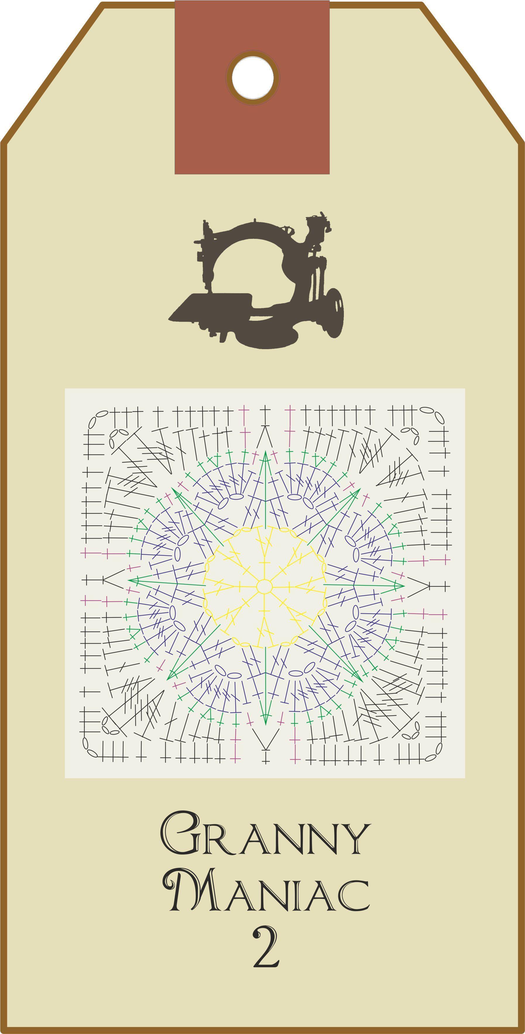 Granny Maniac 2 Gráfico | Cuadrados De Abuelita | Pinterest ...