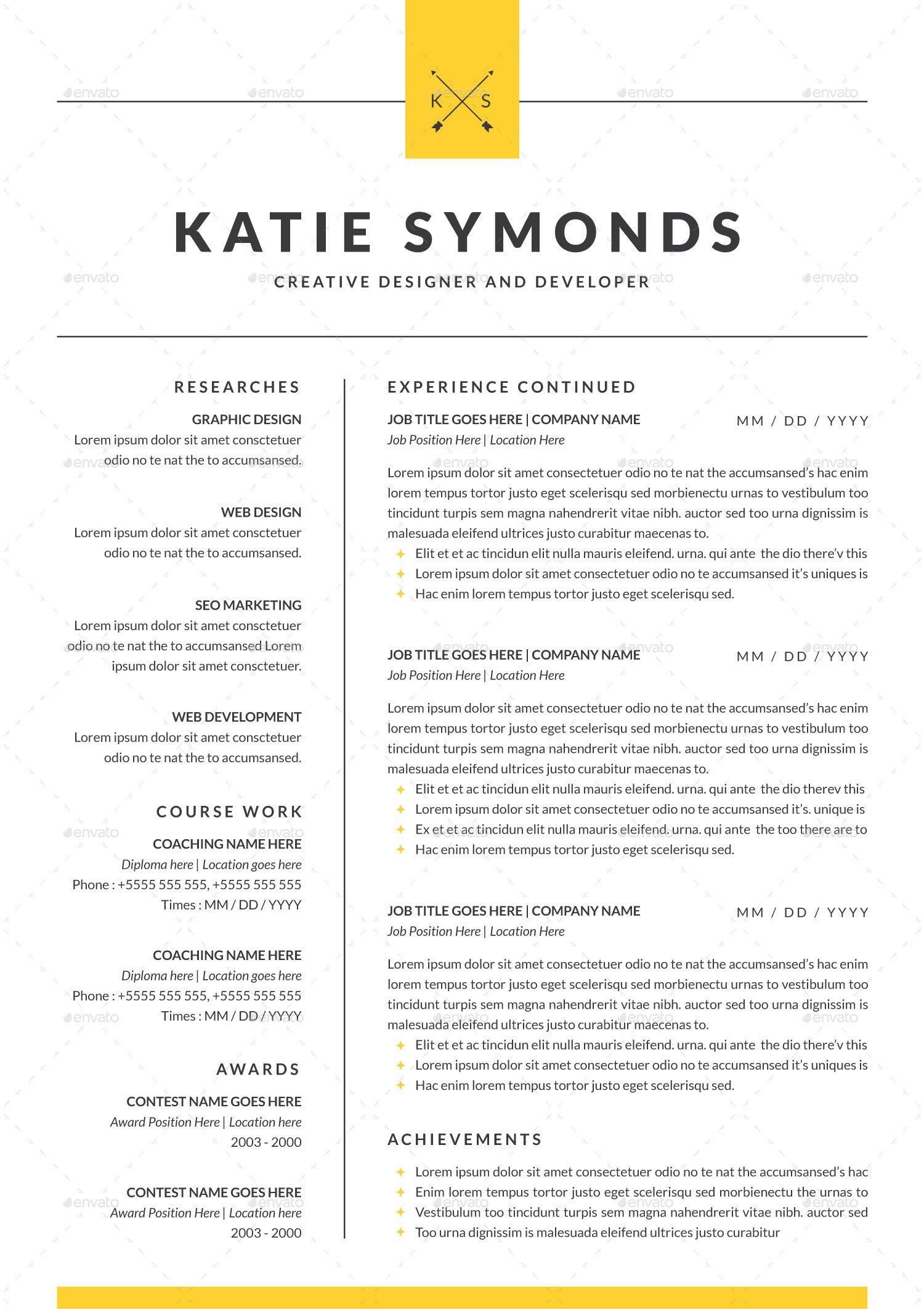 Professional Resume Template 4 Pages Resume template