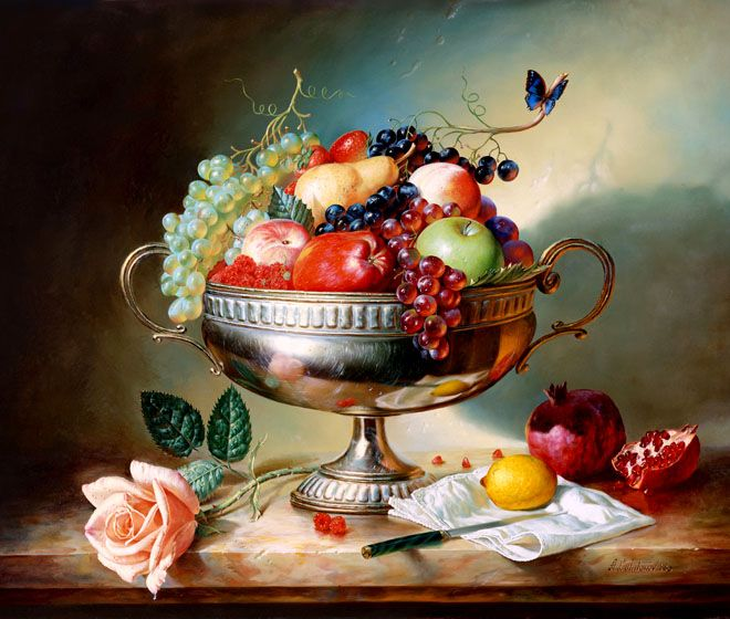25 Hyper Realistic Still Life Oil Paintings By Alexei Antonov By