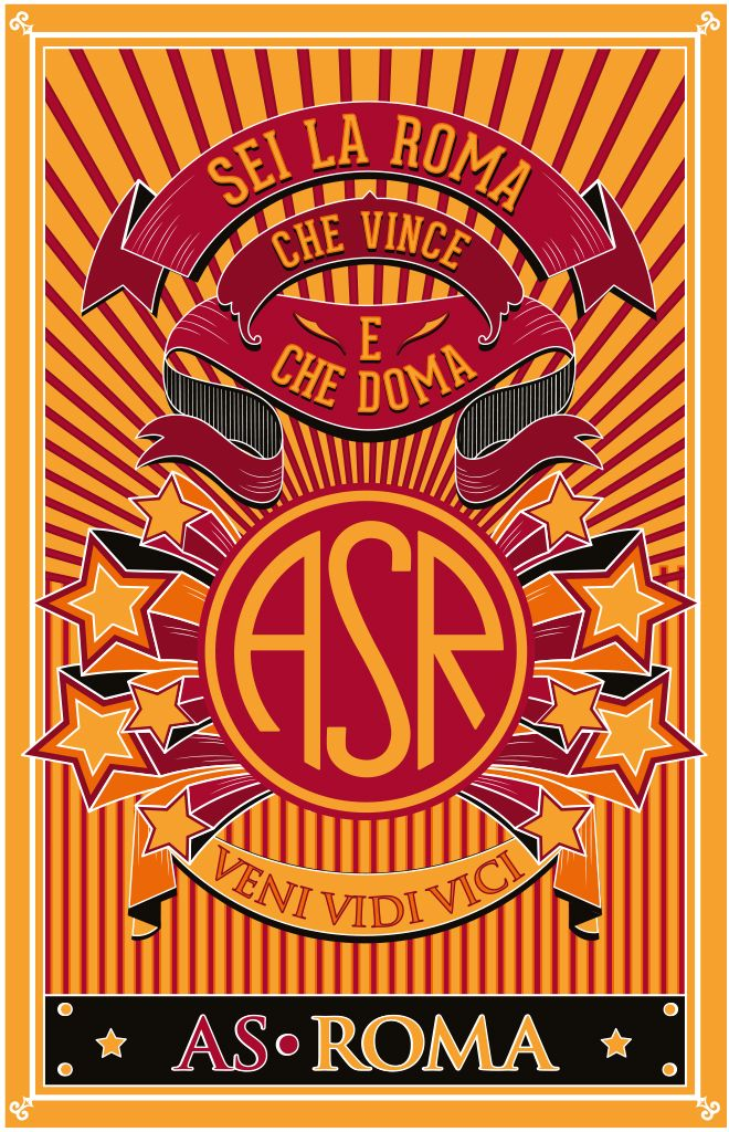 AS Roma stickers collection, designed by Silvia Ciurluini ...