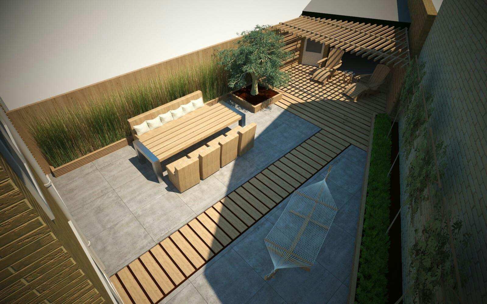 Onze achtertuin... zo blij mee!  Ontworpen door www.3d-graphicdesign.com