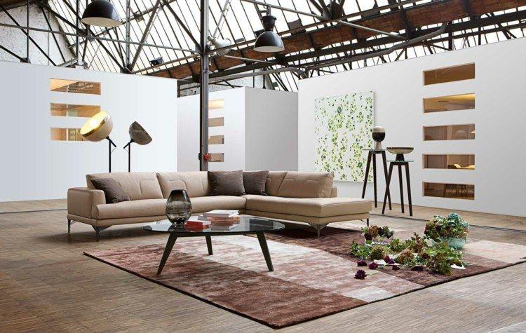 Wandgestaltung Im Wohnzimmer   Stilvolle Idee Für Loft Wohnung