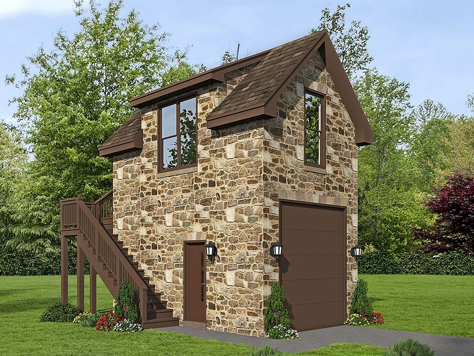 Traditional Style 1 Car Garage Plan Number 51691 Garage Plans With Loft Country Style House Plans Garage Plan