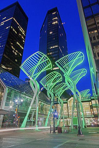 Downtown district at night, Canada, Alberta, Calgary