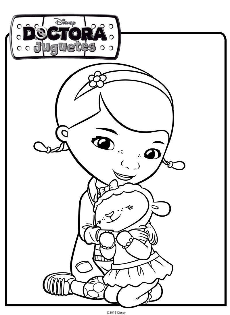 Famoso Disney Jr Para Colorear Doc Mcstuffins Composición ...