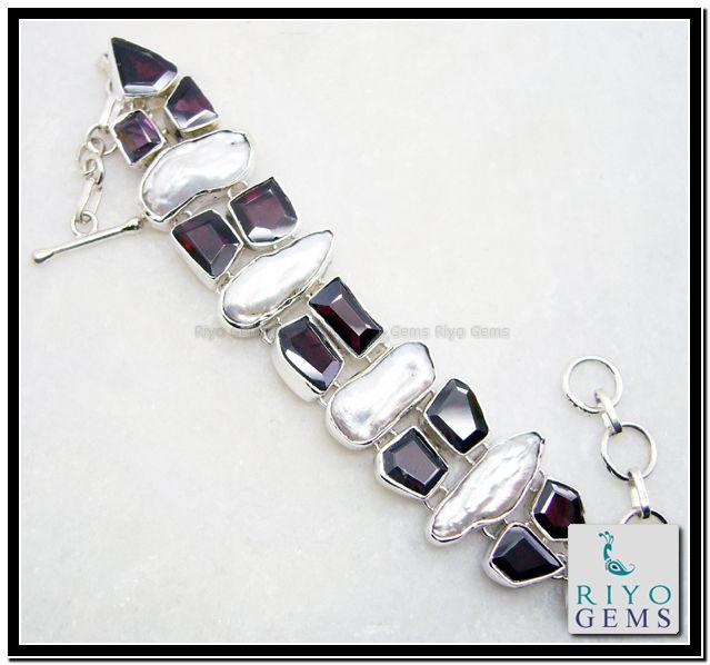 Silver Bracelet by Riyo Gems www.riyogems.com