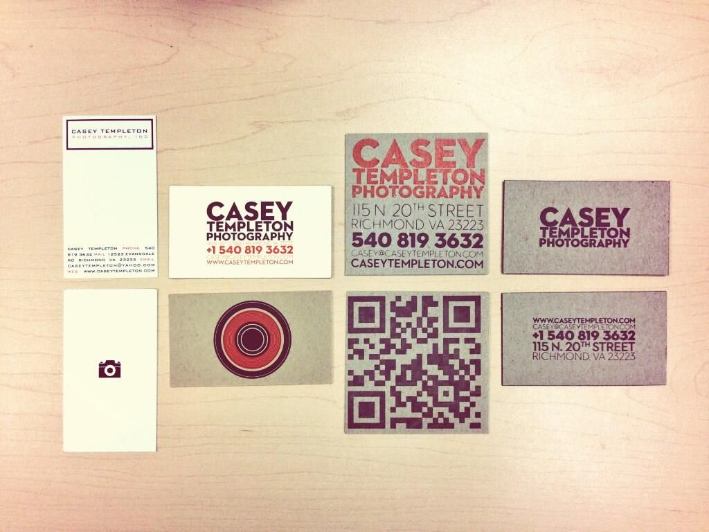 Casey Templeton on | Photography business cards, Photography ...