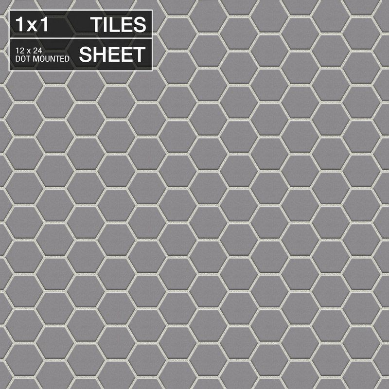 View The Daltile D182 1hexms Keystones Suede Gray 1 X 1 Dot