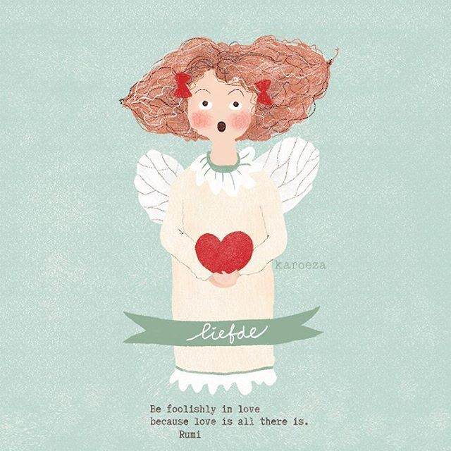 Have a lovely weekend ❤ . . . . #drawing #illustration #angel #rumi #artweinspire #art #artistofinstagram #digitalart #cute #liefde #tekening #heart #photoshop #christmas
