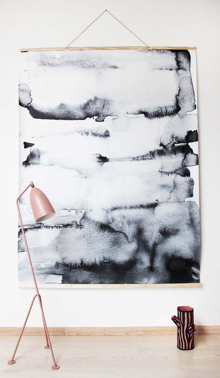 Trend Waterverf In Je Interieur Diy Wall Art Hanging Canvas Diy Wall