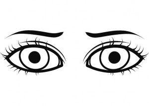 Resultado de imagen de ojos para colorear | Cancion  Tengo dos