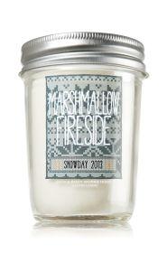 Marshmallow Fireside 6 Oz Mason Jar Candle Slatkin Co Bath