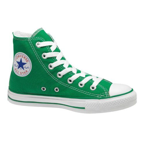 2cb141bf3801 Women s Converse Chuck Taylor All Star Hi Top Kelly Green Canvas Shoes  Womens 5