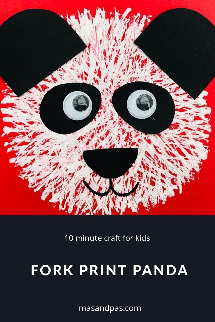Panda fork painting