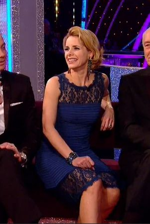 Darcey Bussell looking stunning in her Bernshaw dress on BBC