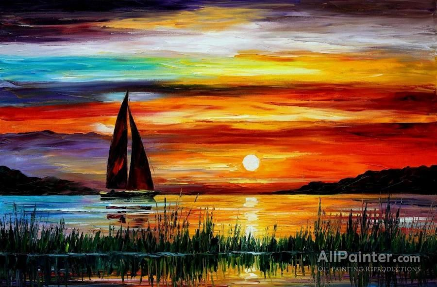 Leonid Afremov Florida Lake Okeechobee oil painting reproductions for sale