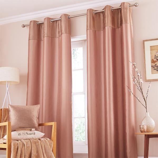 Window Treatments Interiordesign: Catherine Lansfield Home Opulent Velvet Faux Silk Eyelet