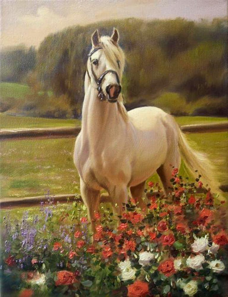 Лошади в картинках художников