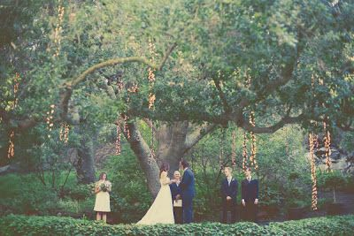 Stunning hanging tree lights for ethereal outdoor weddings