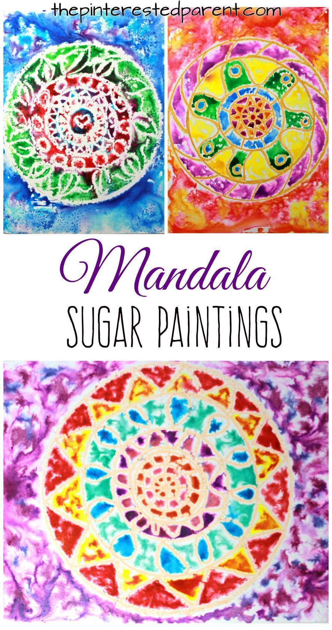 Photo of Mandala Sugar Paintings – The Pinterested Parent