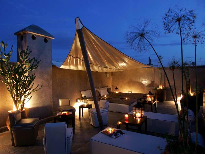 Terrasse Nuit riad Pinterest Terrasses, Esprit et Le jardin - Maison Toit Plat Prix Au M