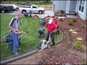 extruding concrete landscape