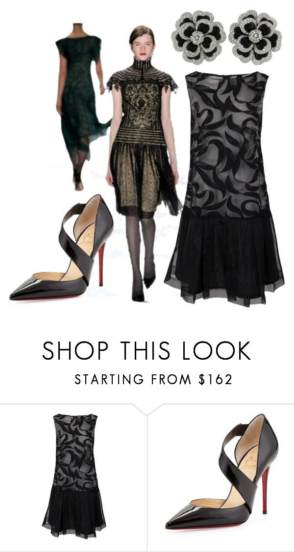 """""""noble runway"""" by sheena-malabar ❤ liked on Polyvore featuring French Connection, Chanel and Christian Louboutin"""