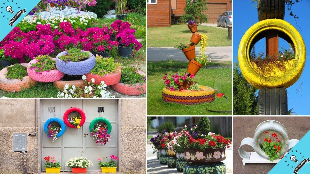 Wow Top 100 Amazing Diy Recycled Tire Planter Ideas Diy Planters Diy Garden Plant Pot Diy