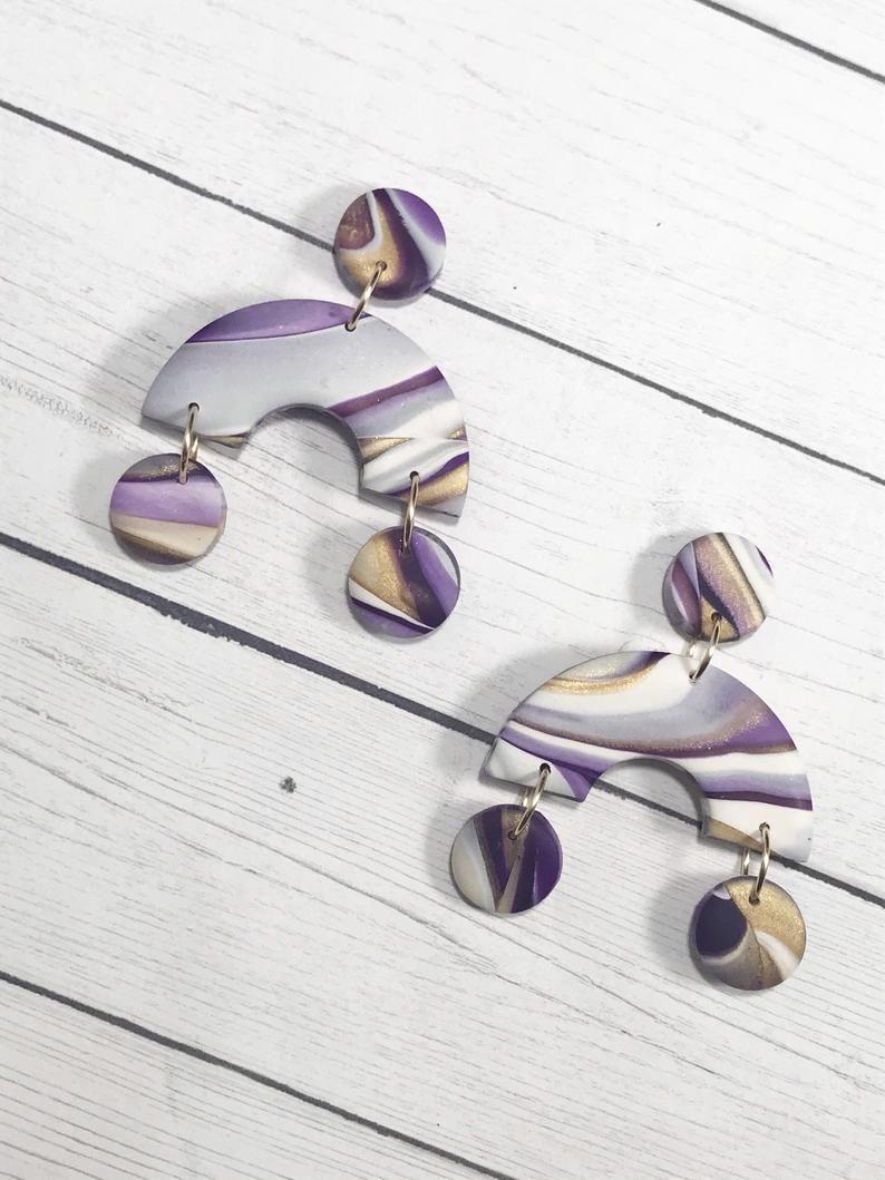 Handmade Clay Earring Kira