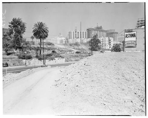 Harbor Freeway Construction In Downtown Area 1951 Los Angeles Examiner Collection 1920 1961 Los Angeles Los Angeles History California History