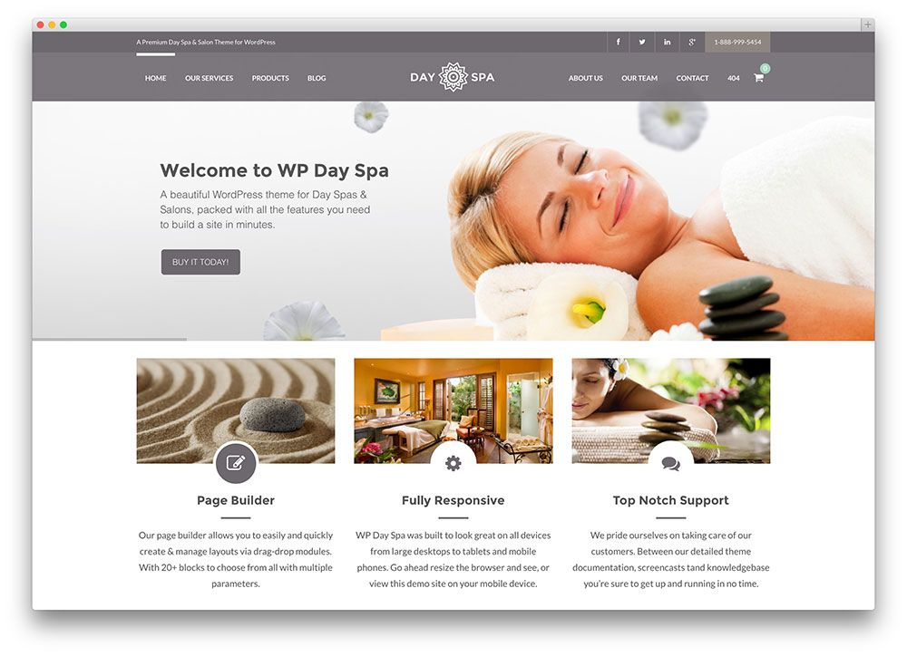 A hand picked list of the best premium WordPress themes for hair salons,  wellness centers, SPA and other health and beauty related websites.