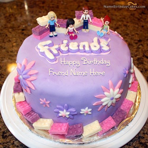 Write name on Friendship Birthday Cake For Friends - Happy ...