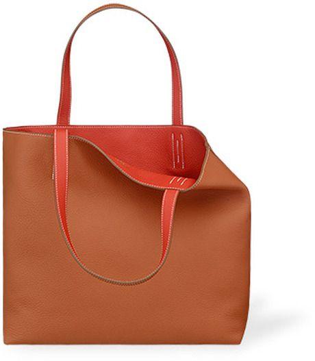 6a5a33596 Hermes Brown Reversible Shopper Bag | Shoppers | Bags, Bag sale ...