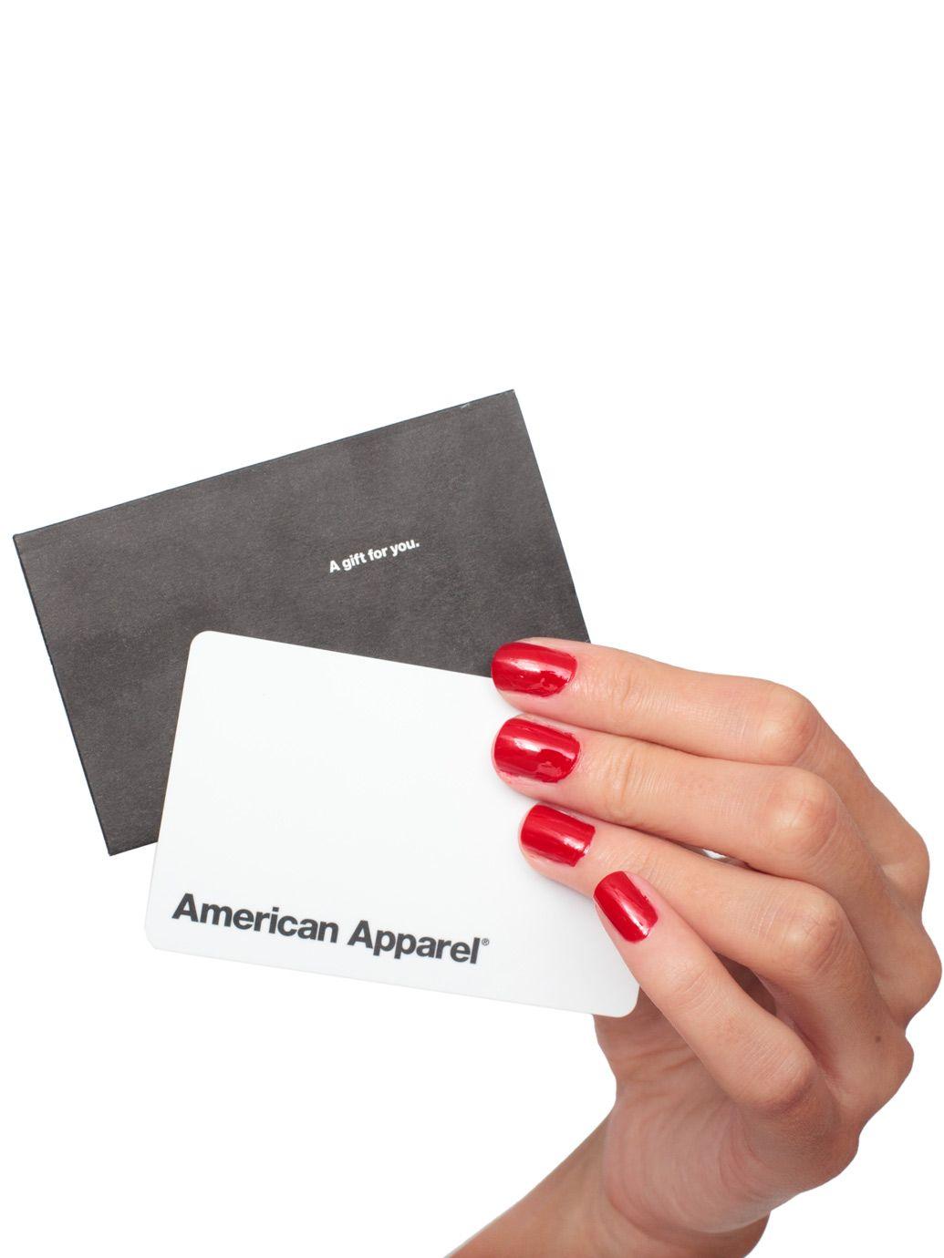 American Apparel Gift Card | Wish List | Pinterest