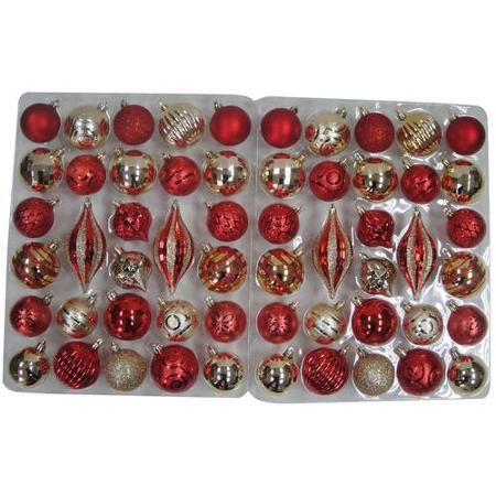 Holiday Time Traditional Shatterproof Christmas Ornaments Set Of 56 Walmart Com Christmas Ornament Sets Ornament Set Christmas Ornaments