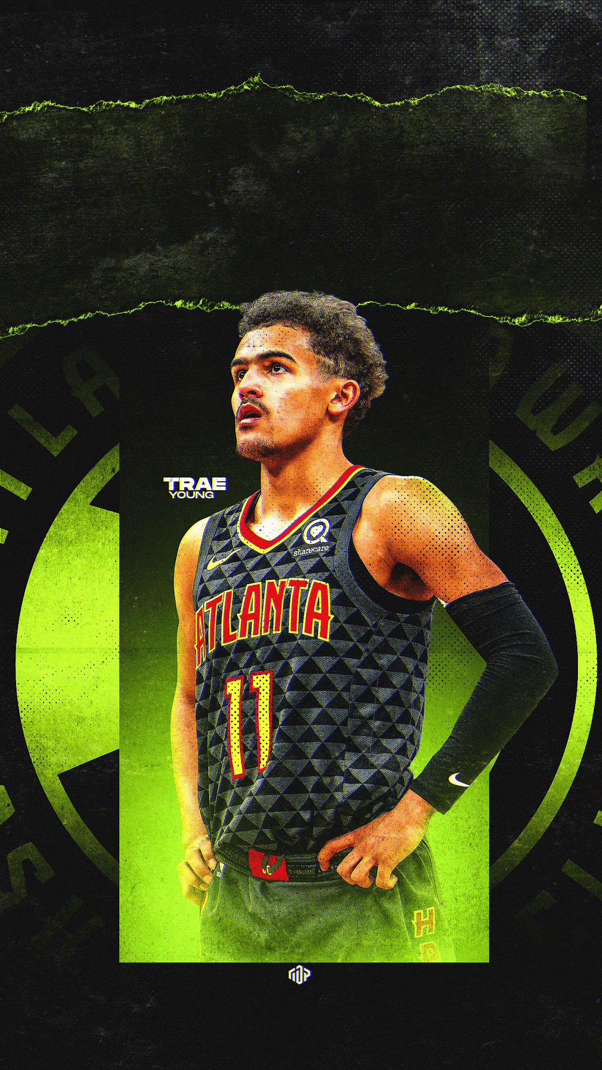 Trae Young Wallpaper Wednesday Graphic on Behance Nba