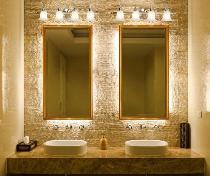 Bathroom Lighting Fixtures Over Mirror for double sink and mirrors ...