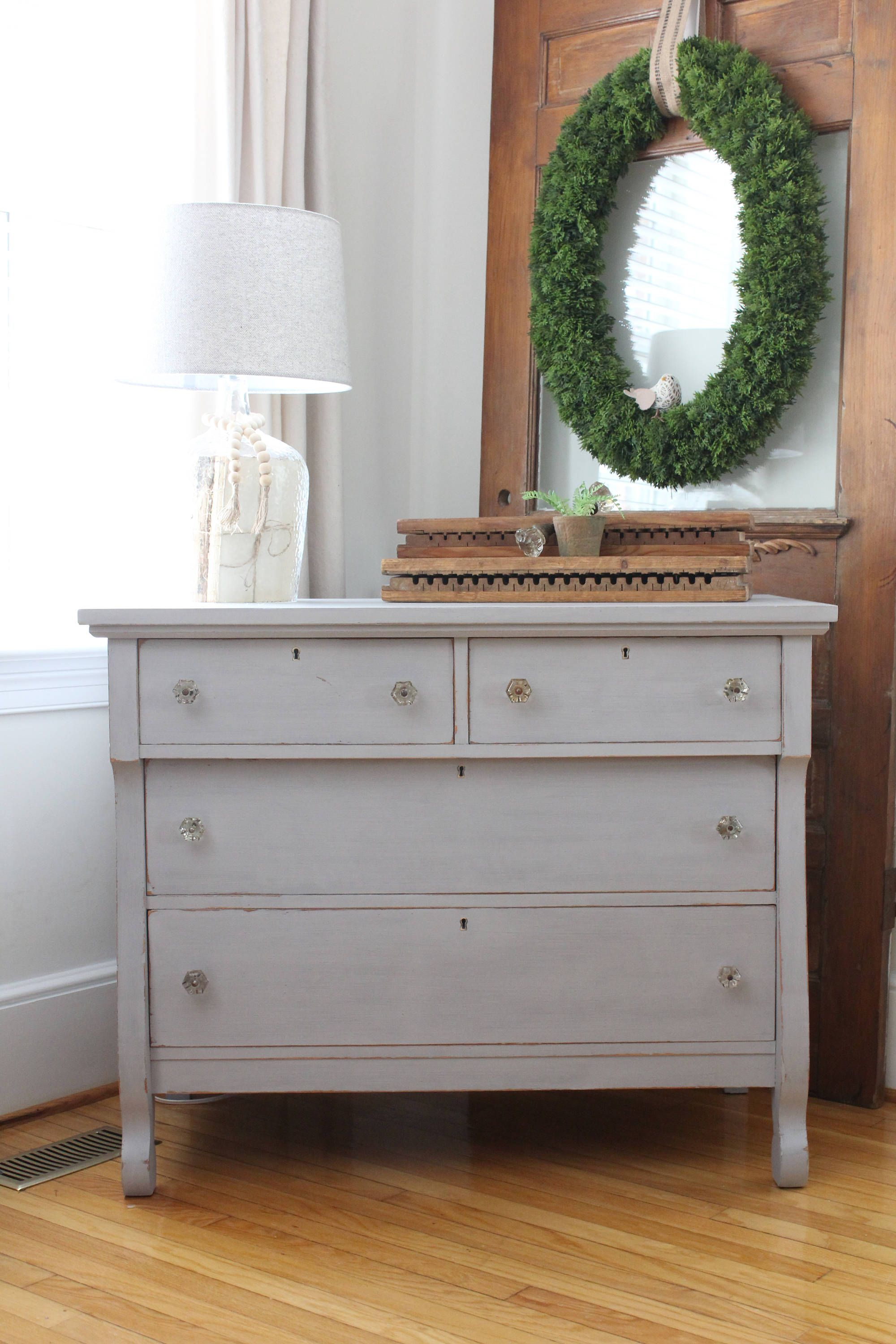 Vintage Empire Chest Of Drawers   Annie Sloan Chalk Paint   Paris Grey    Bedroom