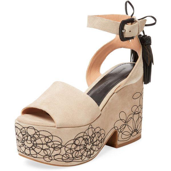 22c4e4a4c460 Sigerson Morrison Women s Beia Suede Platform Sandal - Cream Tan ...