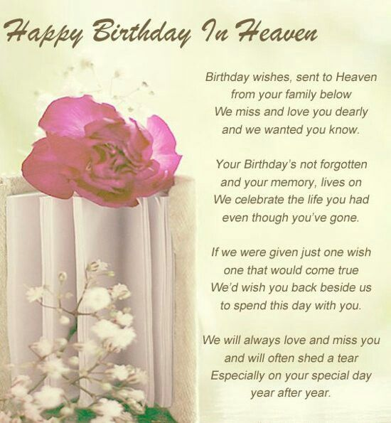 It S My Mother In Law S First Birthday In Heaven Happy Birthday
