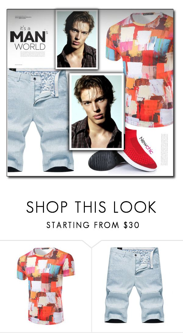 """""""Newchic (11/IX)"""" by dorinela-hamamci on Polyvore featuring men's fashion and menswear"""