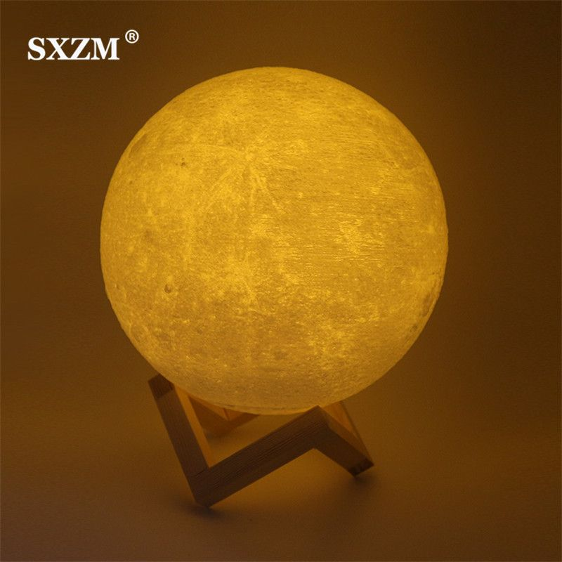 Sale Sxzm Night Light 3d Printing Moon Lamp Lunar Usb Charging Night Light Touch Control Brightness Two Tone 8cm 10cm 15cm 20cm Sx Night Light Lamp Photo Lamp