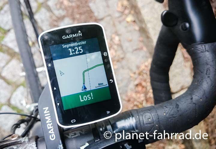 Strava Segmente Auf Dem Edge 520 Fahrradcomputer Fahrrad Navi
