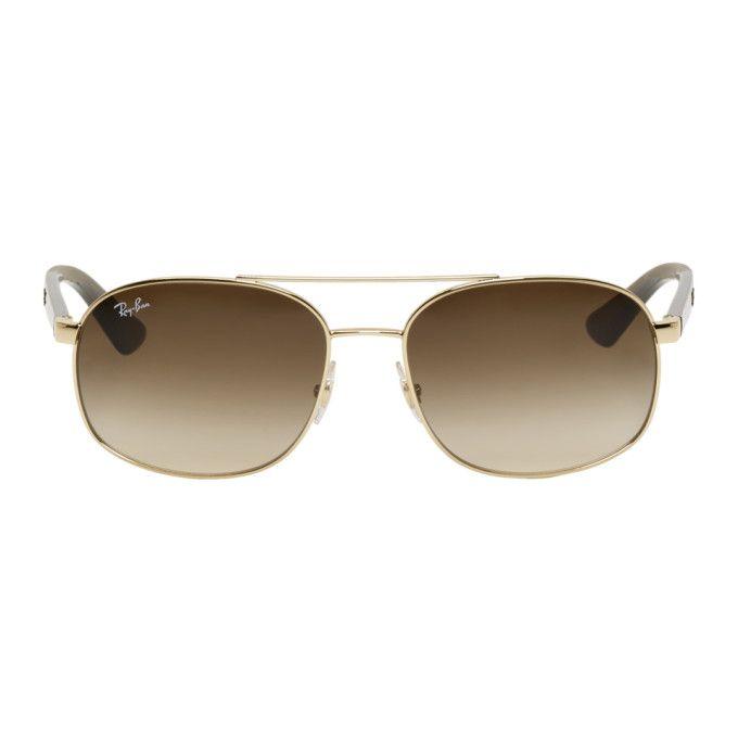 b862eacf7e66a RAY BAN Gold   Brown RB3593 Sunglasses.  rayban